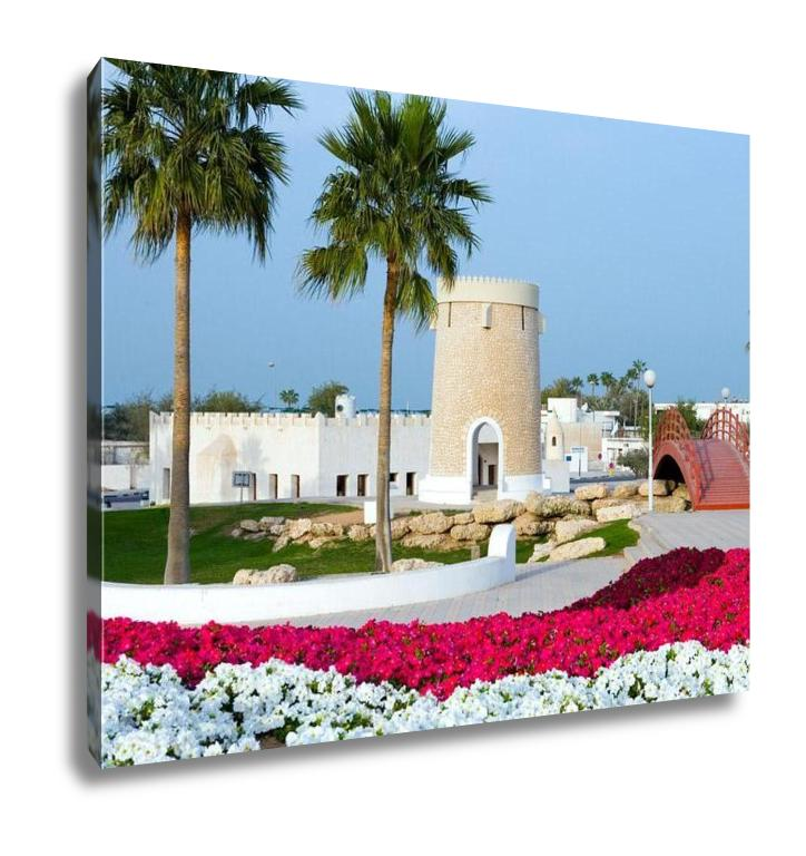 Gallery Wrapped Canvas, Qatar Doha The Gardens Of The City Center