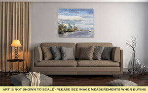 Gallery Wrapped Canvas, Liffey River In Dublin