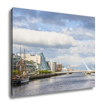Load image into Gallery viewer, Gallery Wrapped Canvas, Liffey River In Dublin