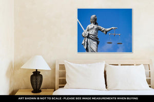 Gallery Wrapped Canvas, Statue Of Lady Justice At Dublin Castle In Dublin Ireland