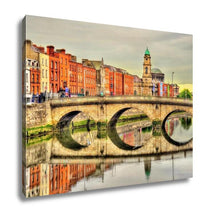 Load image into Gallery viewer, Gallery Wrapped Canvas, View Of Mellows Bridge In Dublin Ireland