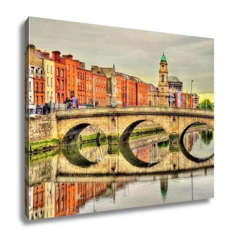 Gallery Wrapped Canvas, View Of Mellows Bridge In Dublin Ireland