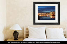 Load image into Gallery viewer, Framed Print, Dublin City Center During Sunset
