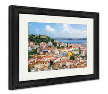 Load image into Gallery viewer, Framed Print, Lisbon Portugal Skyline At Sao Jorge Castle In The Day
