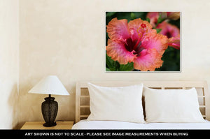 Gallery Wrapped Canvas, Cancun Bright Tropical Hibiscus