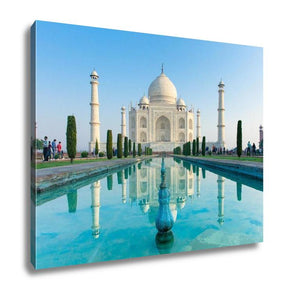 Gallery Wrapped Canvas, The Morning View Of Taj Mahal Monument India