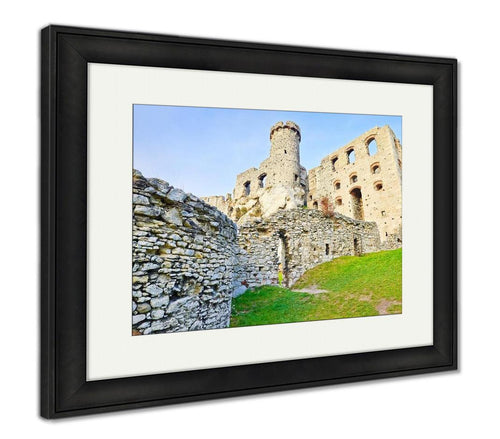 Framed Print, Ruins Of The Ogrodzieniec Castle In Poland
