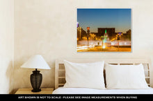 Load image into Gallery viewer, Gallery Wrapped Canvas, Fountain In Unirii Square Bucharest Romania