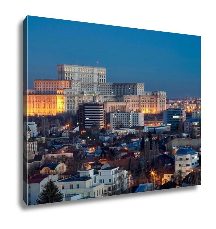 Gallery Wrapped Canvas, Bucharest Aerial View