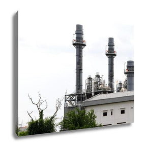 Gallery Wrapped Canvas, Power Plant In Industrial Zone