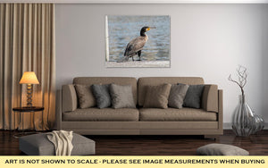 Gallery Wrapped Canvas, Cormorant In Zurich