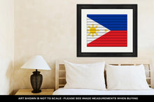 Load image into Gallery viewer, Framed Print, National Flag Of Philippines
