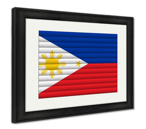 Framed Print, National Flag Of Philippines