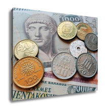 Load image into Gallery viewer, Gallery Wrapped Canvas, Greek Drachma Coins