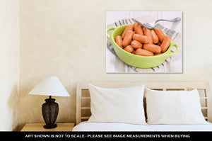 Gallery Wrapped Canvas, Bowl Full Of Mini Frankfurt With Fork