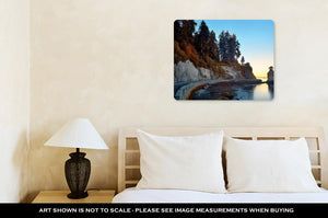 Metal Panel Print, Siwash Rock In Stanley Park At Sunrise In Vancouver
