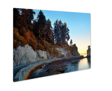 Load image into Gallery viewer, Metal Panel Print, Siwash Rock In Stanley Park At Sunrise In Vancouver
