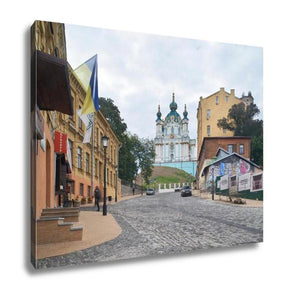 Gallery Wrapped Canvas, Andriyivsky Uzviz Street In Kiev