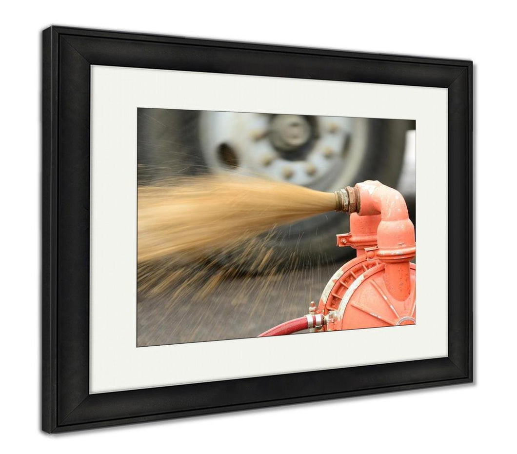 Framed Print, Water Pump
