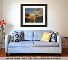 Load image into Gallery viewer, Framed Print, Sunset On Lake Norman Nc