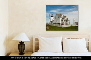 Gallery Wrapped Canvas, Pemaquid Point Lighthouse