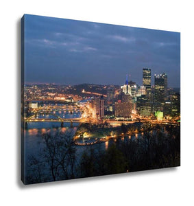 Gallery Wrapped Canvas, View From Mt Washington On Downtown Pittsburgh