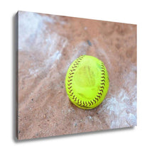 Load image into Gallery viewer, Gallery Wrapped Canvas, Softball Is A Variant Of Baseball Played With A Larger Ball On A Smaller Field