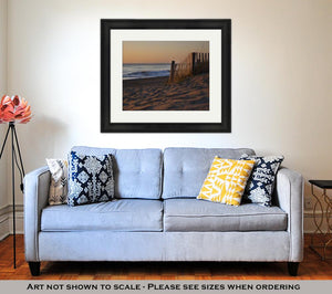 Framed Print, Sunrises Are Epic On The Pristine Beaches In The Outer Banks