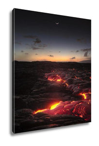 Gallery Wrapped Canvas, Hawaii Lava Flow At Kilauea Volcano