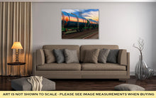 Load image into Gallery viewer, Gallery Wrapped Canvas, Freight Train With Petroleum Tankcars