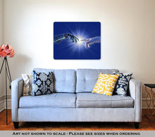 Load image into Gallery viewer, Metal Panel Print, Birth Of Artificial Intelligence Binary Burst