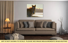 Load image into Gallery viewer, Gallery Wrapped Canvas, New Young Foal On Field At Sunset
