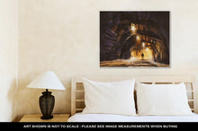 Load image into Gallery viewer, Gallery Wrapped Canvas, Inside Of The Mine Shaft With Fog Illustration Digital Painting