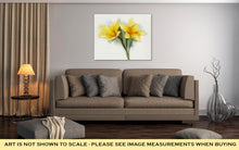 Load image into Gallery viewer, Gallery Wrapped Canvas, Watercolor Painting Yellow Lilies Flower