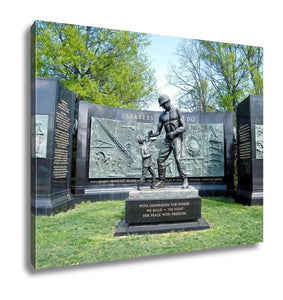 Gallery Wrapped Canvas, The National Seabee Memorial In Arlington National Cemetery Arlington Virginia