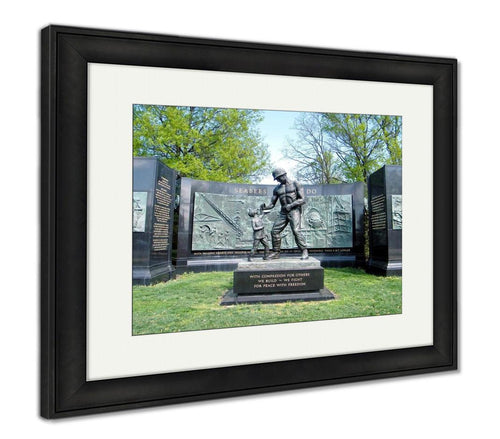 Framed Print, The National Seabee Memorial In Arlington National Cemetery Arlington Virginia