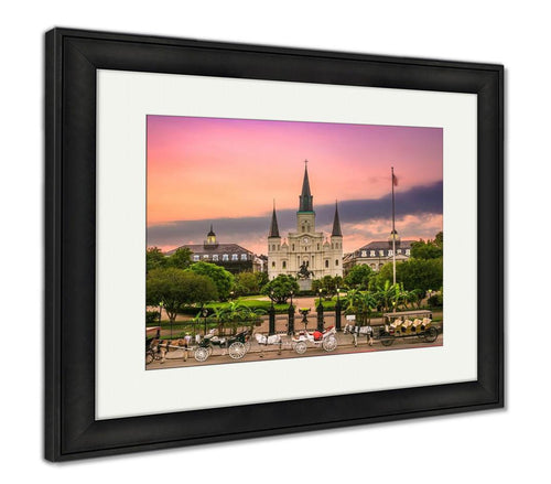 Framed Print, New Orleans Louisiana At Jackson Square