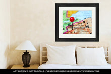 Load image into Gallery viewer, Framed Print, Santa Rosa De Copan Pinned On A Map Of Honduras