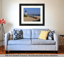 Load image into Gallery viewer, Framed Print, Most Famous Nantucket Island Lighthouse