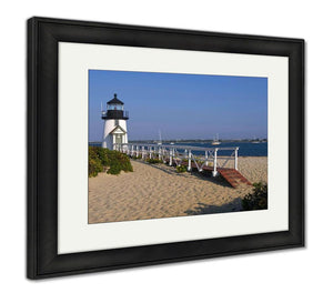 Framed Print, Most Famous Nantucket Island Lighthouse