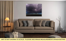 Load image into Gallery viewer, Gallery Wrapped Canvas, Amazing Supercell Lighted Up By Lightnings At Dusk