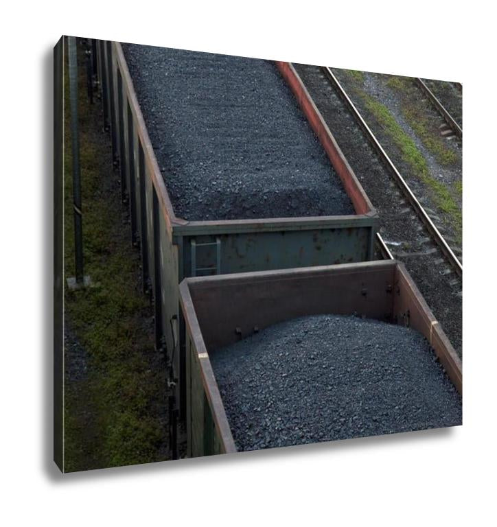 Gallery Wrapped Canvas, Cargo Cars Carrying Coal