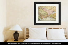 Load image into Gallery viewer, Framed Print, USA East Coast On Vintage Map
