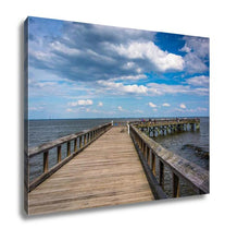 Load image into Gallery viewer, Gallery Wrapped Canvas, Pier In The Chesapeake Bay At Downs Park In Pasadena Maryland