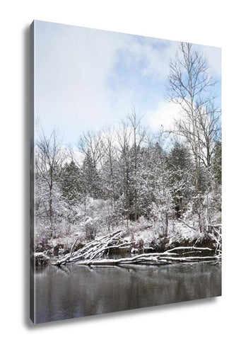 Gallery Wrapped Canvas, Frosty Winter Scene Vertical