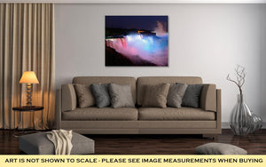Gallery Wrapped Canvas, Niagara Falls In Colors
