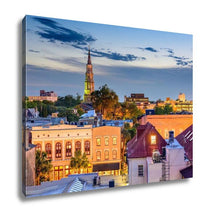 Load image into Gallery viewer, Gallery Wrapped Canvas, Charleston South Carolina Cityscape