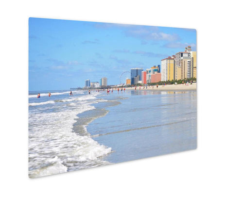 Metal Panel Print, View Of The Famous Grand Strand In Myrtle Beach South Carolina