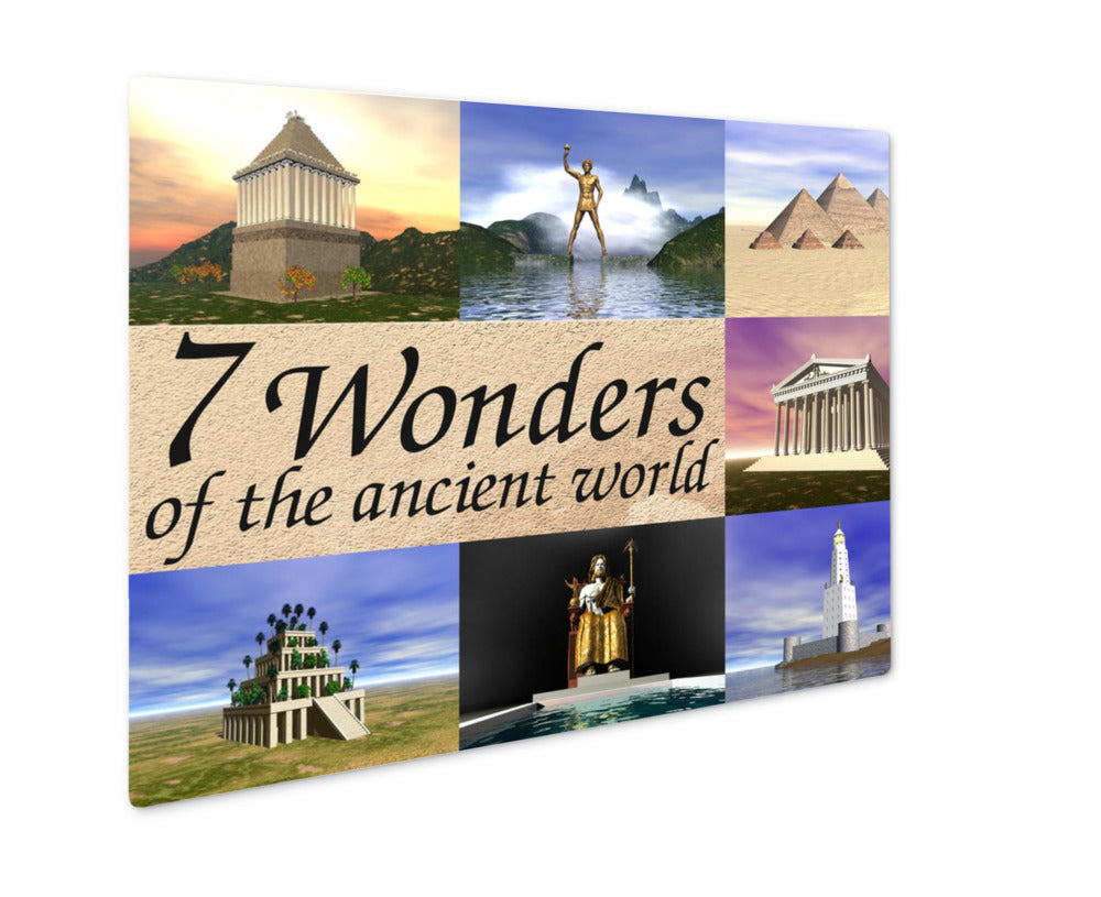 Metal Panel Print, Seven Wonders Of The Ancient World