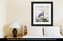 Load image into Gallery viewer, Framed Print, Uruguay Flag At Montevideo Flag Square
